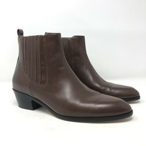 J.CREW Shoes - J Crew Brown Leather Chelsea Slip On Ankle Boots